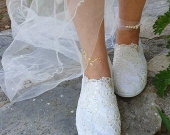 fe5175b055c Pearl wedding shoes | Etsy