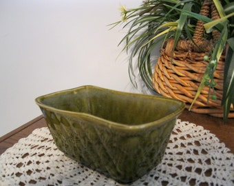 Olive Green Ceramic Planter