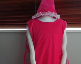 Fairy / Princess Tunic and attached Cape and matching Hat - childrens dress up costume