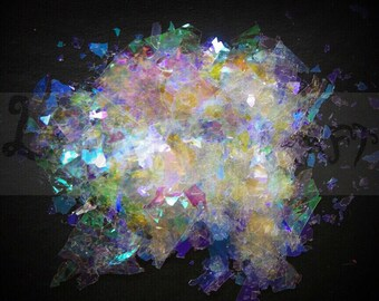 WilloWisp Glitter Flakes, iridescent glitter, resin supplies, scrapbook supplies, scrapbooking, loose glitter