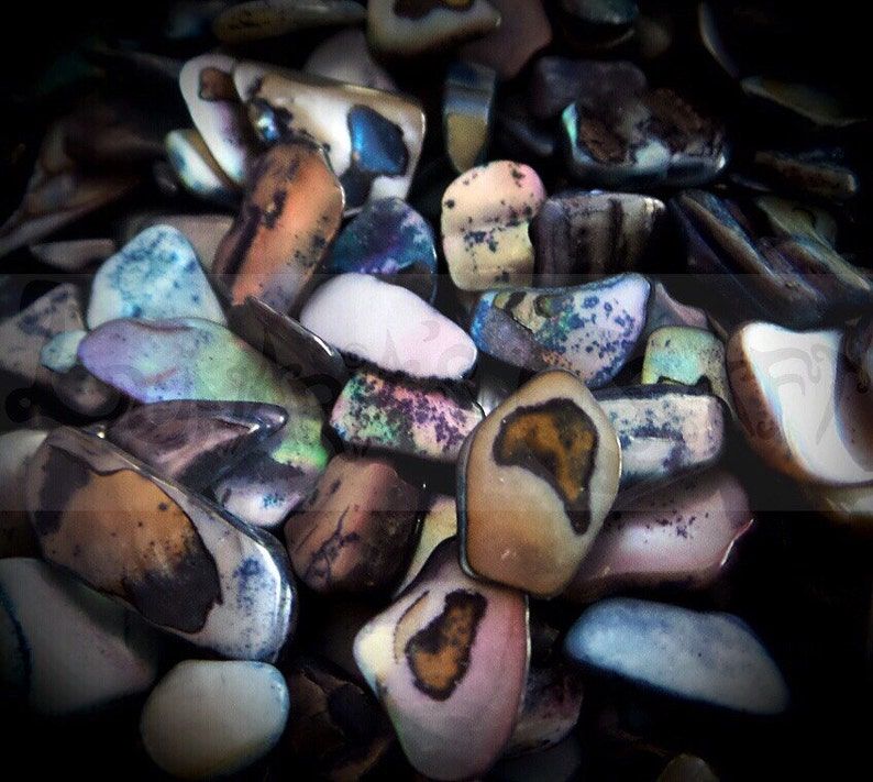 black scrapbook supplies Crushed Black Sea Shells iridescent polymerclay supplies resin supplies embellishments