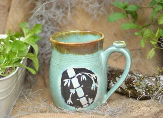 Bamboo Mug 24 oz Bamboo mug Garden Mug Asian Mug bamboo
