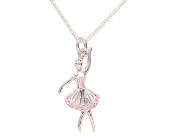 Dance Gift Toe Shoe Ballet Necklace \u2022 Dancer Ballet Gift Ballerina Jewelry \u2022 Recital Dance Performance Little Girls Pink Jewelry Birthday