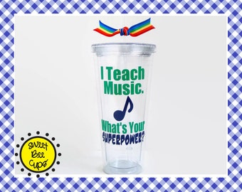 I Teach Music. Whats Your SUPERPOWER? Related Arts Teacher Gift, PE Teacher, Art Teacher, Music Teacher, Specials Teacher, Resource Teacher