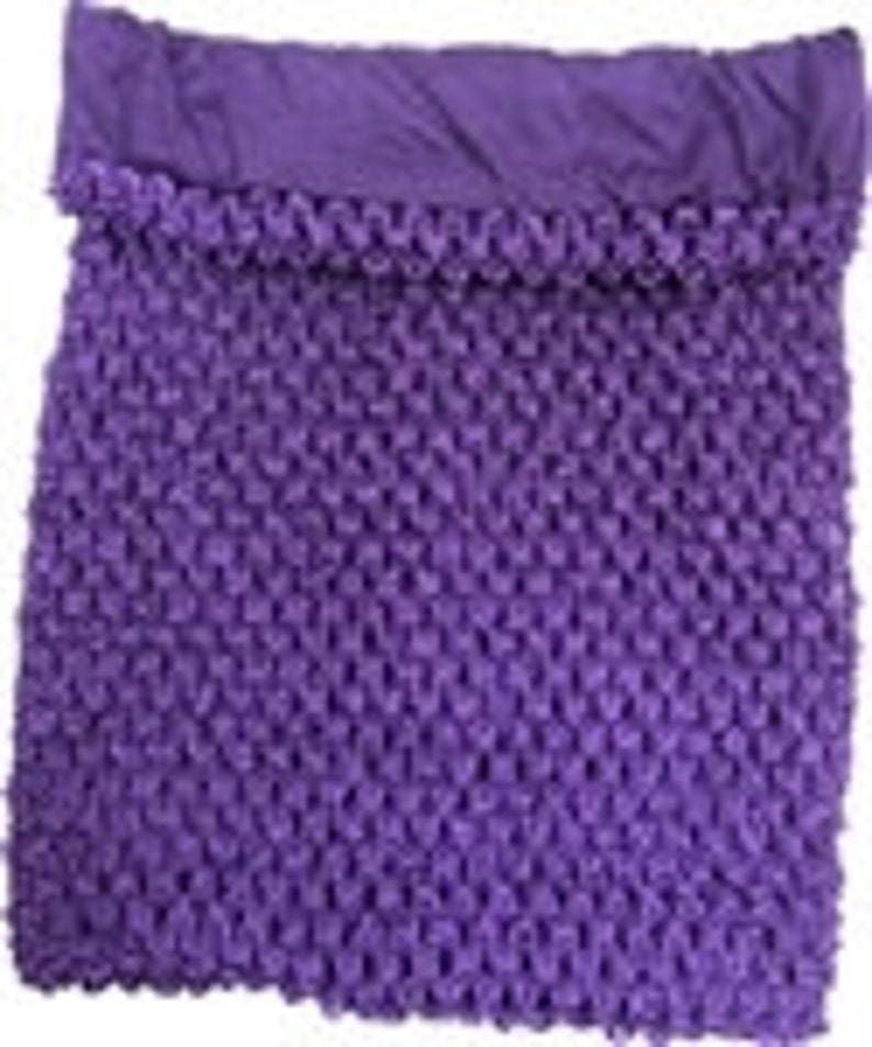 Purple Crochet Tutu Top Lined Approximately 9 X 11 Inch Etsy