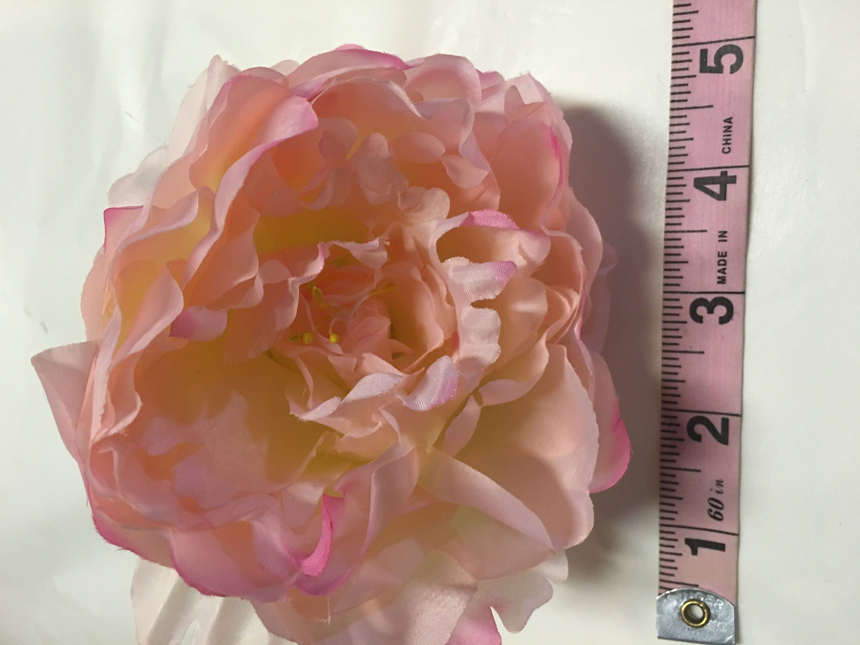 Light pink artificial silk peony heads about 5 inch craft flowers light pink artificial silk peony heads about 5 inch craft flowers for making floral headbands flower hair clips wedding flowers mightylinksfo