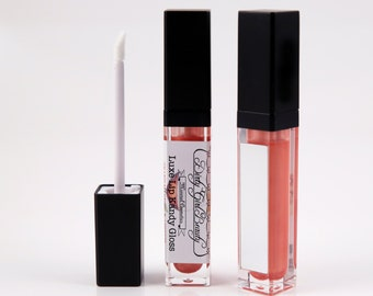Luxe Lip Kandy Tinted Lip Gloss in GRAND MARNIER & APRICOT with Built-in Mirror - Vegan
