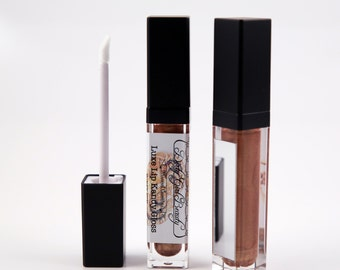 Luxe Lip Kandy Tinted Lip Gloss in HONEY BUN with Built-in Mirror - Vegan