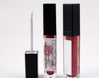 Luxe Lip Kandy Tinted Lip Gloss in SANGRIA SUNRISE with Built-in Mirror - Vegan