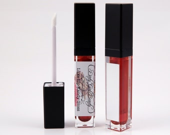 Luxe Lip Kandy Tinted Lip Gloss in RED HOT CINNAMON with Built-in Mirror - Vegan
