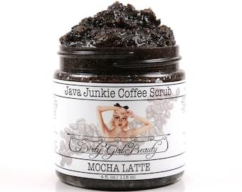 Java Junkie Coffee Scrub in MOCHA LATTE - 4 fl. oz. Jar - Vegan