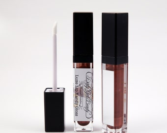 Luxe Lip Kandy Tinted Lip Gloss in CAPPUCCINO CRUSH with Built-in Mirror - Vegan