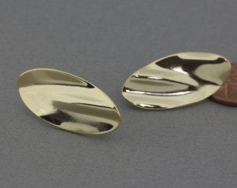 Dainty oval earring drops AGB Timon 2 pieces Sterling silver handmade jewelry findings