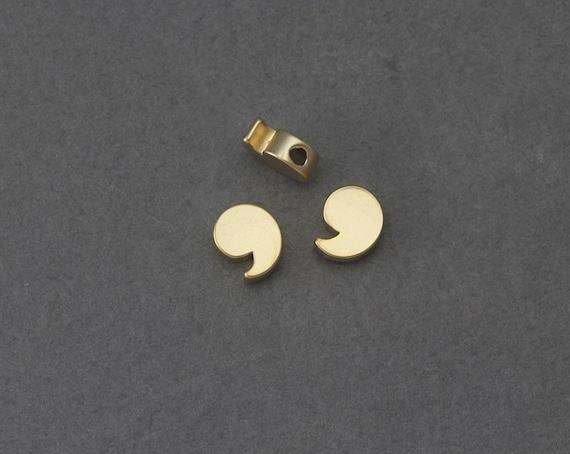 Virgola perlina ottone simbolo di apostrofo. lettere numeri. etsy