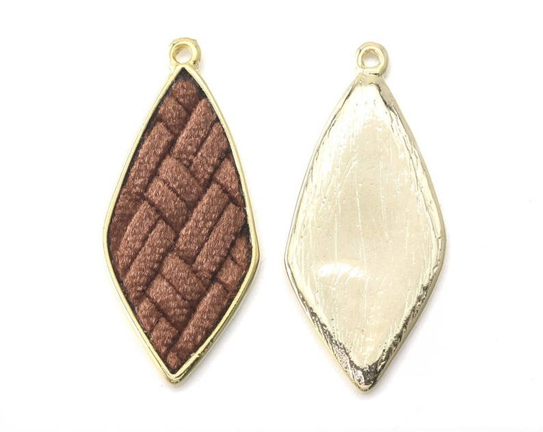 Polished Gold Plated over Pewter  2 Pcs GC131V-PG-CM Camel Teardrop Velvet Pendant Jewelry Craft Supply