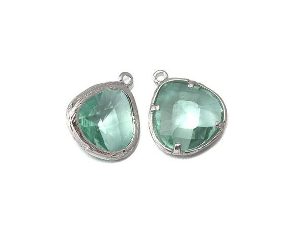 10 % Pendentif de réduction (10 pièces). Pendentif % verre Erinite.  Fourniture en gros de bijoux. Poli rhodié Original sur laiton - CG004-PR-fr ab77f7