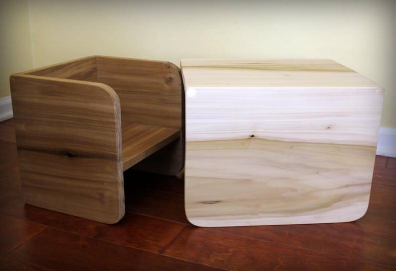 Montessori Cube Chair Set 1 large 1 small