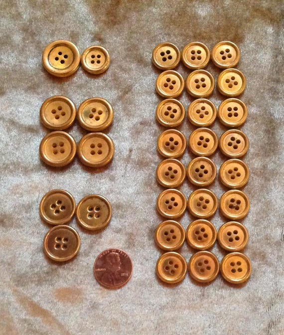 10 Smile Smiley Face Gold White Sewing Buttons Plastic 18mm Shank