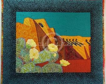 """Original Quilt Art, Enchanted, 25"""" x 29"""", Nancy Turbitt Art"""