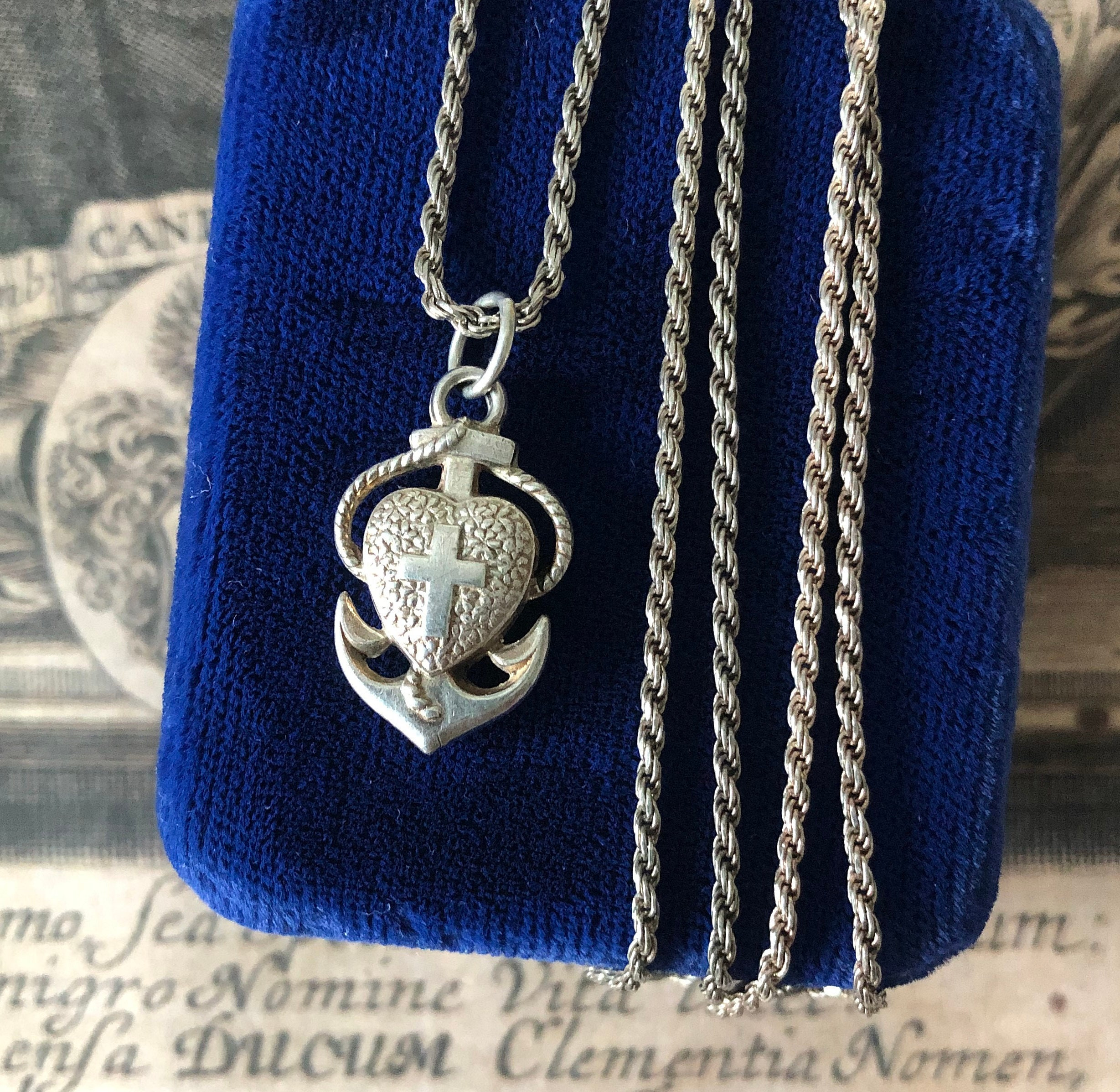 Sterling Silver Antiqued Angel of Hope 18in Necklace and Pendant