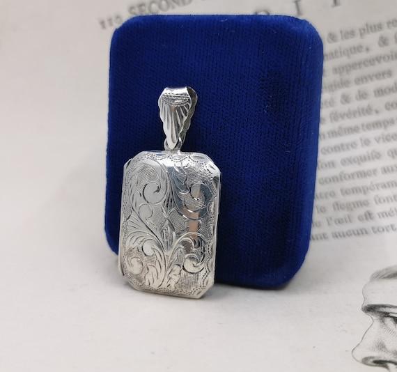 Sterling Silver Locket, Photo Locket Pendant, Lock