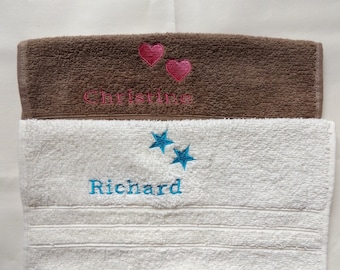 Free P/&P Personalised face flannel//cloth spitfire plane design £3.99 each
