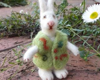 White Rabbit - Needle felted