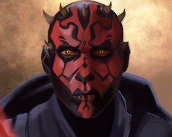 Darth Maul Portrait Print