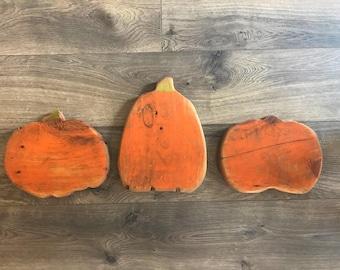 Halloween decor, Fall decor, Thanksgiving decor, pumpkins, rustic pumpkins, home decor, gallery wall, hand painted decor