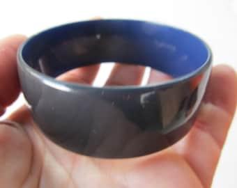 1950s Rare BLUE BAKELITE Bangle Bracelet Tested