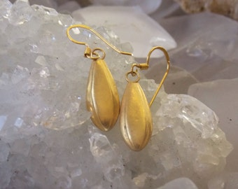 24k Gold Vermeil Tear Drop Earrings