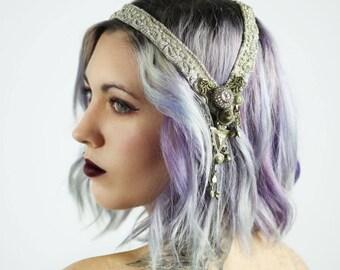 Vintage Zardozi Headpiece - Vintage, Tribal fusion, Bridal