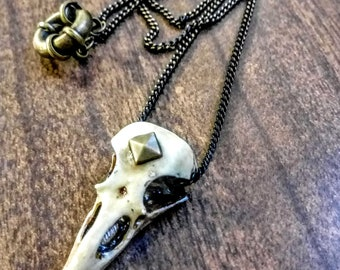 6b67074df Bird skull necklace - witchy jewelry - occult pendant