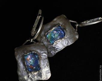 Earrings,Silver earrings, glass earrings,earrings for women,handmade earrings.