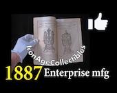 Antique 1887 Enterprise Coffee Grinder Mill (Price List) Recipe Hardware Catalog (The Earliest Enterprise mfg Catalog now Available)