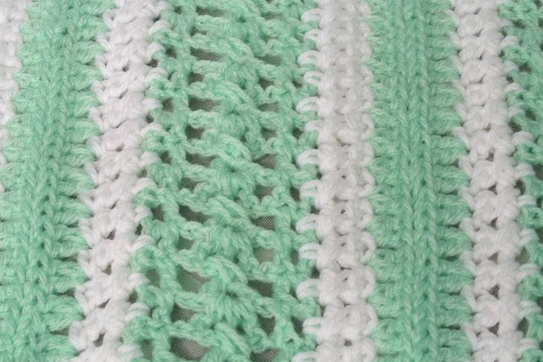 Miles of Love Baby Blanket; crcohet baby blanket; lacy two tone baby blanket; crib blanket; nursery blanket