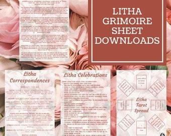 Litha Grimoire Sheets - Downloadable