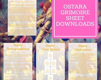 Ostara Grimoire Sheets - Downloadable