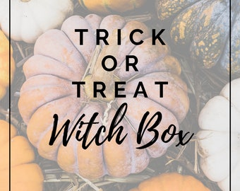 Trick or Treat Witch Box - Witch Supplies // Herbs // Crystals // Witchcraft