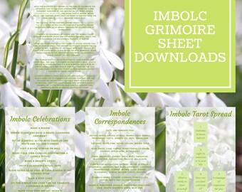Imbolc Grimoire Sheets - Downloadable