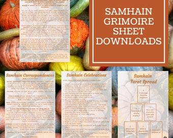 Samhain Grimoire Sheets - Downloadable