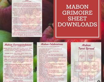 Mabon Grimoire Sheets - Downloadable