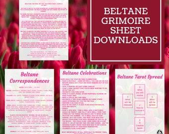 Beltane Grimoire Sheets - Downloadable