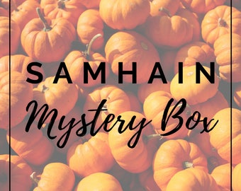 Samhain Mystery Box PRE-ORDER - Ships on 11th October 2021 // Witch Festival // Wheel of the Year // Pagan