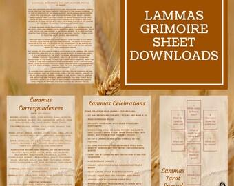 Lammas Grimoire Sheets - Downloadable