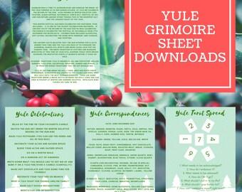 Yule Grimoire Sheets - Downloadable