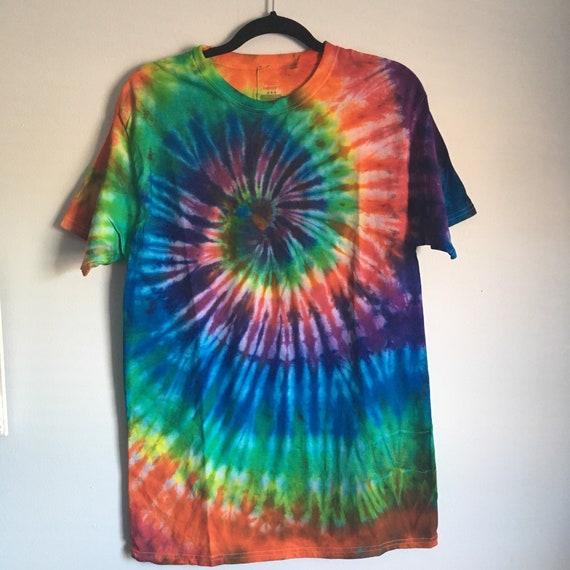 e2cd61c5a89356 Rainbow Spiral Tie Dye T-Shirt
