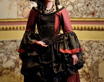 3fb4818344 18th Century dress Gothic dress rococo dress marie antionette gown  victorian dress gothic wedding steampunk wedding masquerade custom