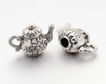 TS234 Gold or Silver Ornate Cute Birds 20mm x 11mm 10 x Owl Charms