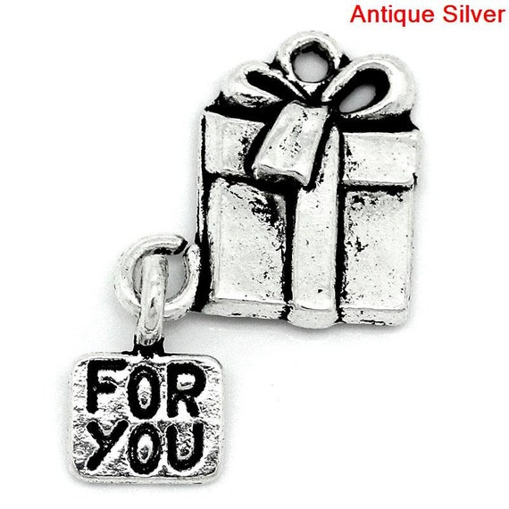 10x Charms Quote Word LOVE Tibetan Silver Beads DIY Pendant Bracelet 25*13mm